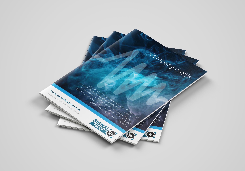 signal company brochure mockup